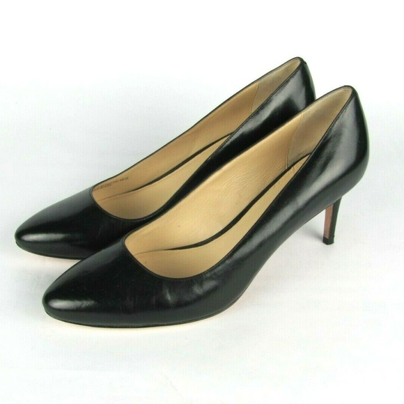 952946b6cd2 COLE HAAN Grand OS Black Leather Heels Pumps 10.5